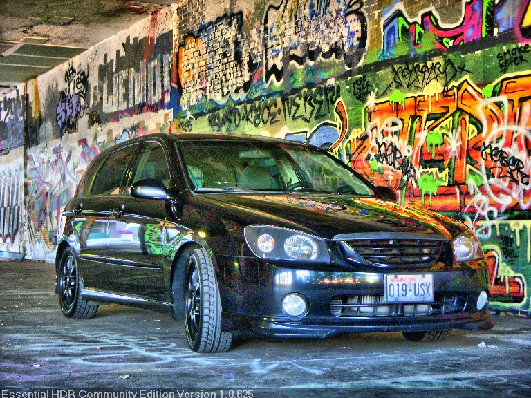 2006 Black Kia Spectra Spec5 picture, mods, upgrades