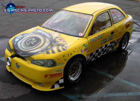 1997 Hyundai Accent Gs 1 8 Mile Drag Racing Timeslip 0 60