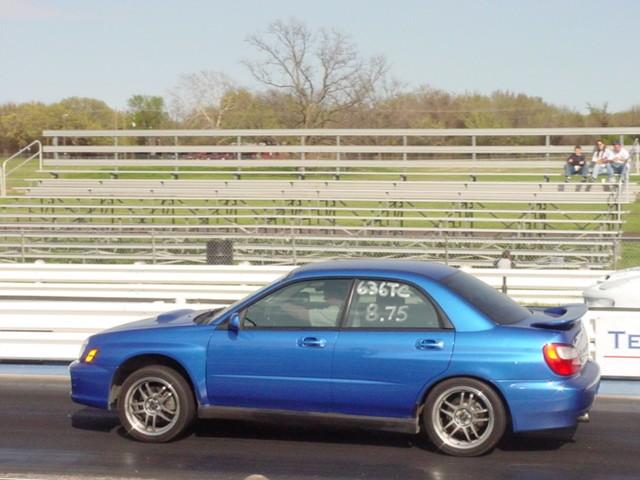 2004 Subaru Impreza WRX STI 18 mile Drag Racing timeslip 060