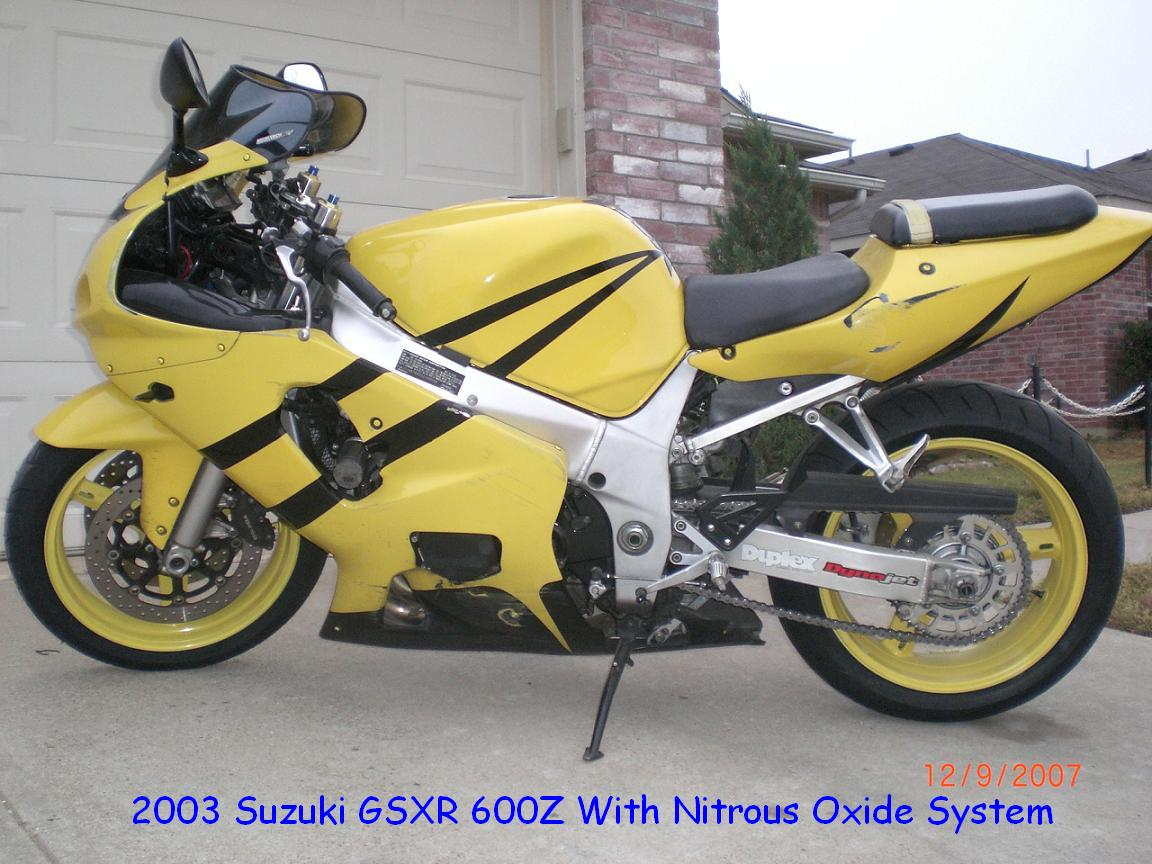2003  Suzuki GSX-R 600 picture, mods, upgrades