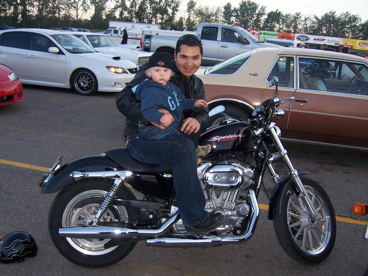 2004 Harley-Davidson Sportster 883-1200 XL 1/4 mile Drag Racing ...