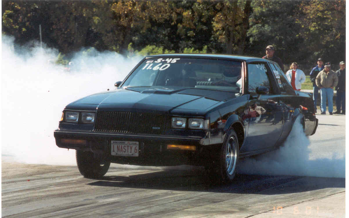 1987 Buick Grand National 3.8 SFI Turbo V6 1/4 mile Drag Racing trap ...