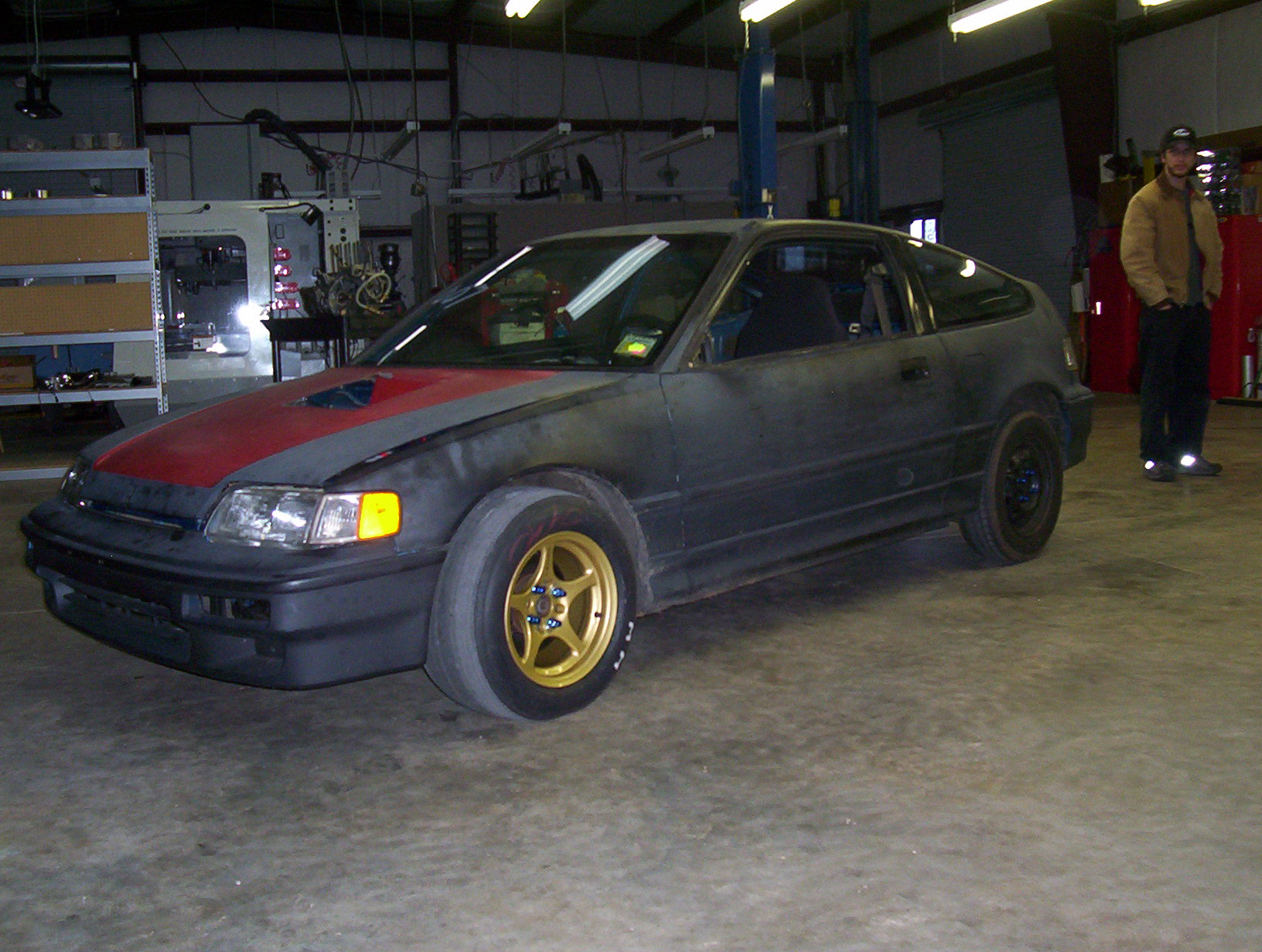 1991 Honda Civic CRX LS/VTEC 1/8 mile Drag Racing timeslip 0-60