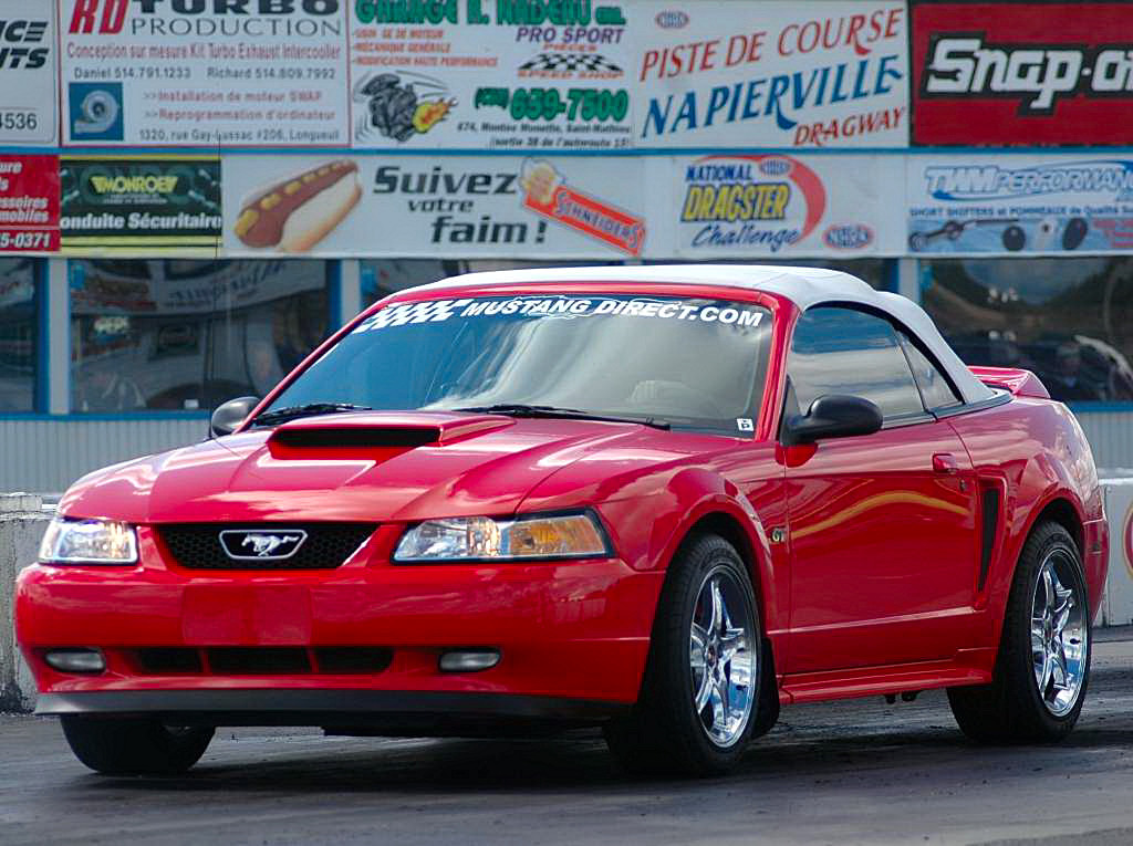 2000 ford mustang gt convertible 1/4 mile drag racing timeslip