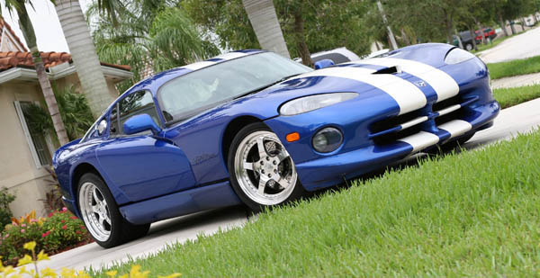 1996 GTS Blue with white stripes Dodge Viper GTS with Headers & Exhaust picture, mods, upgrades