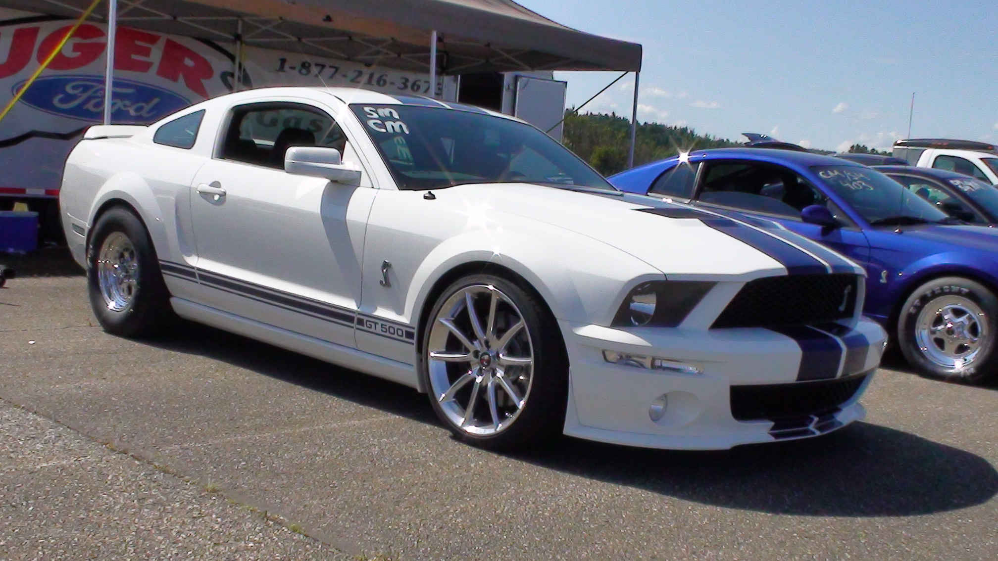 2007 Ford Mustang Shelby-GT500 1/4 mile Drag Racing timeslip specs 0