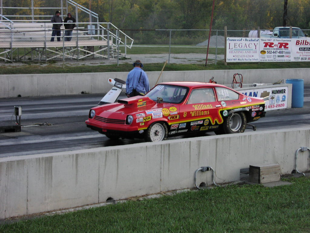 1976 Chevrolet Vega 1/8 mile Drag Racing timeslip 0-60 - DragTimes.com