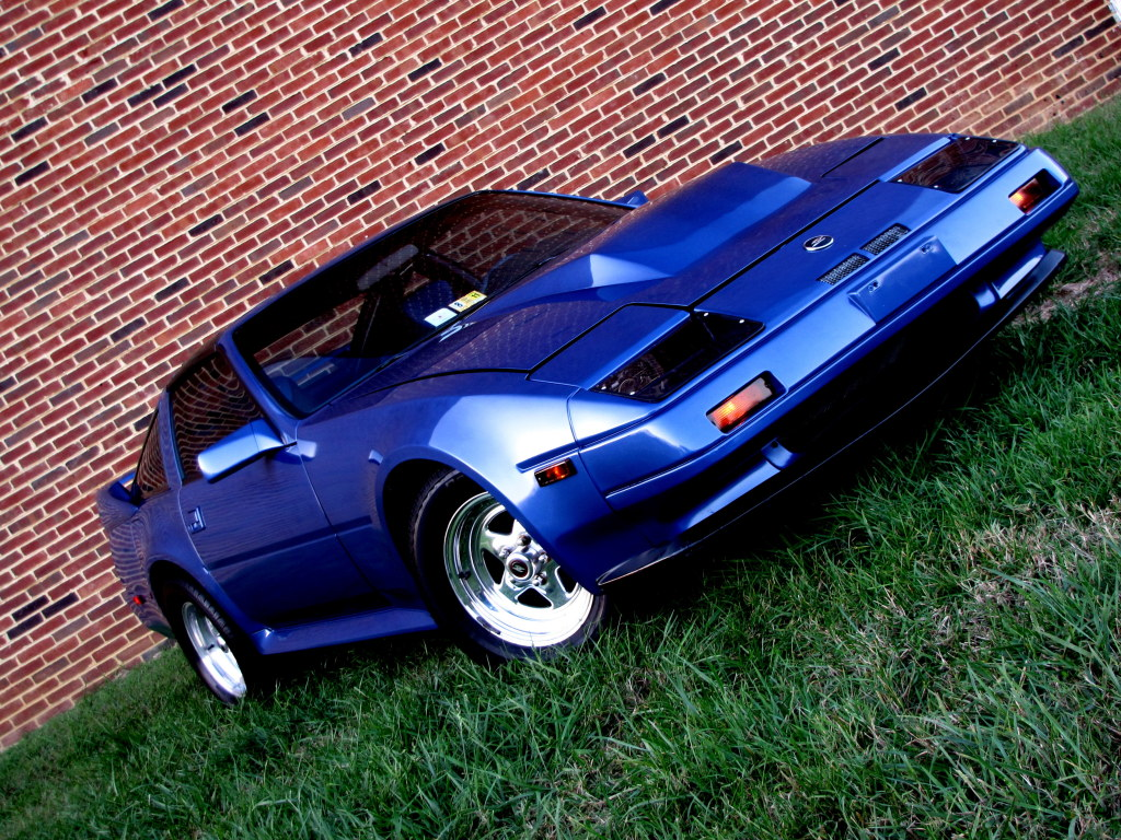 blue 1986 Nissan 300ZX 300zx z31 turbo