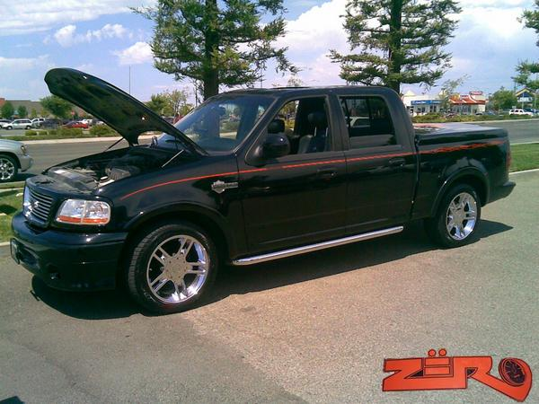 2002 Ford F150 Harley-Davidson Edition 1/4 mile Drag Racing trap speed