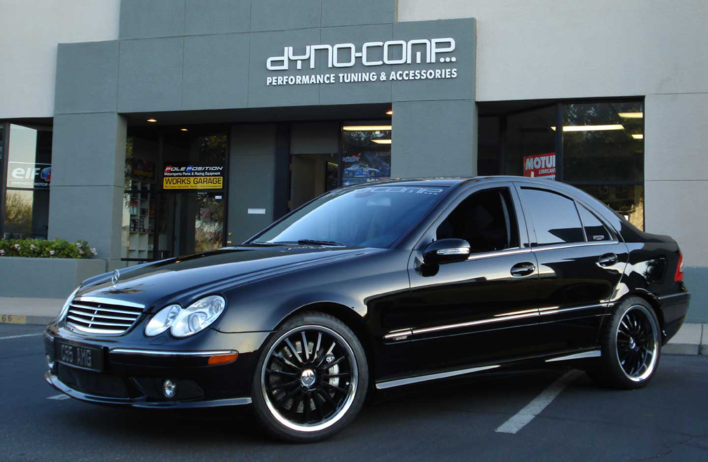 2005 mercedes benz c55 amg dyno comp supercharged 1 4 mile for Mercedes benz c55 amg