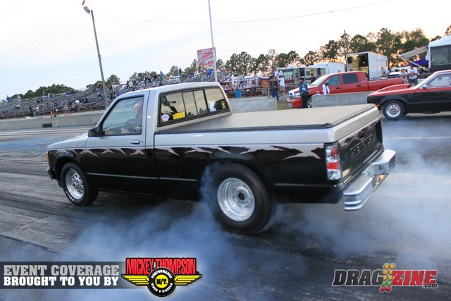Black & Silver 1985 Chevrolet S10 Pickup Regular