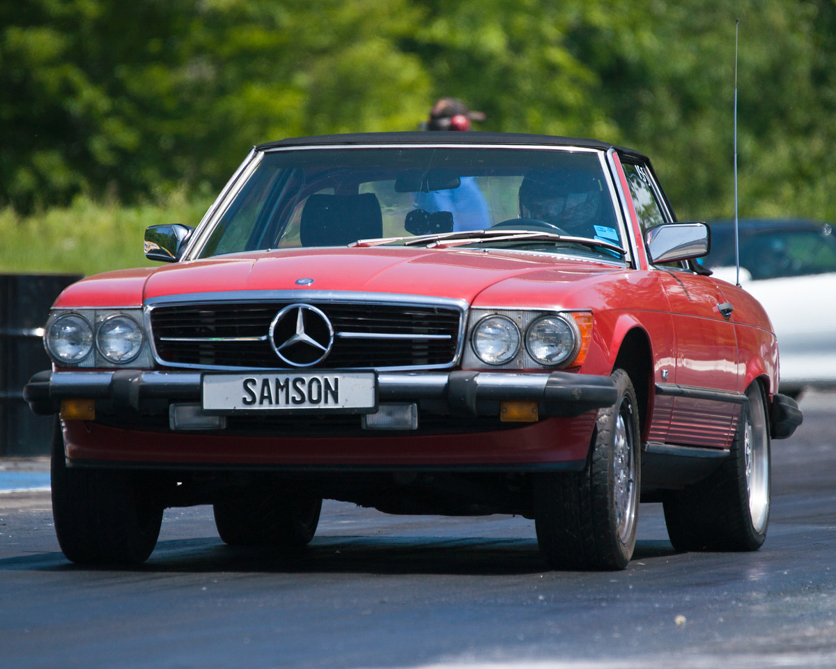 Red 1986 Mercedes-Benz 560SL M120 V12