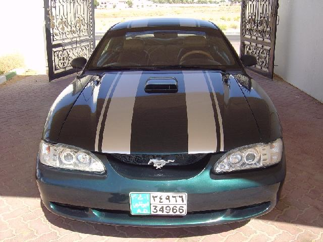 Deep Forest Green 1995 Ford Mustang GT
