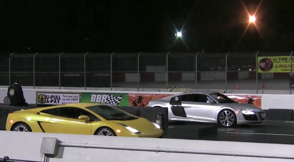 Audi R8 V10 Drag Racing Video
