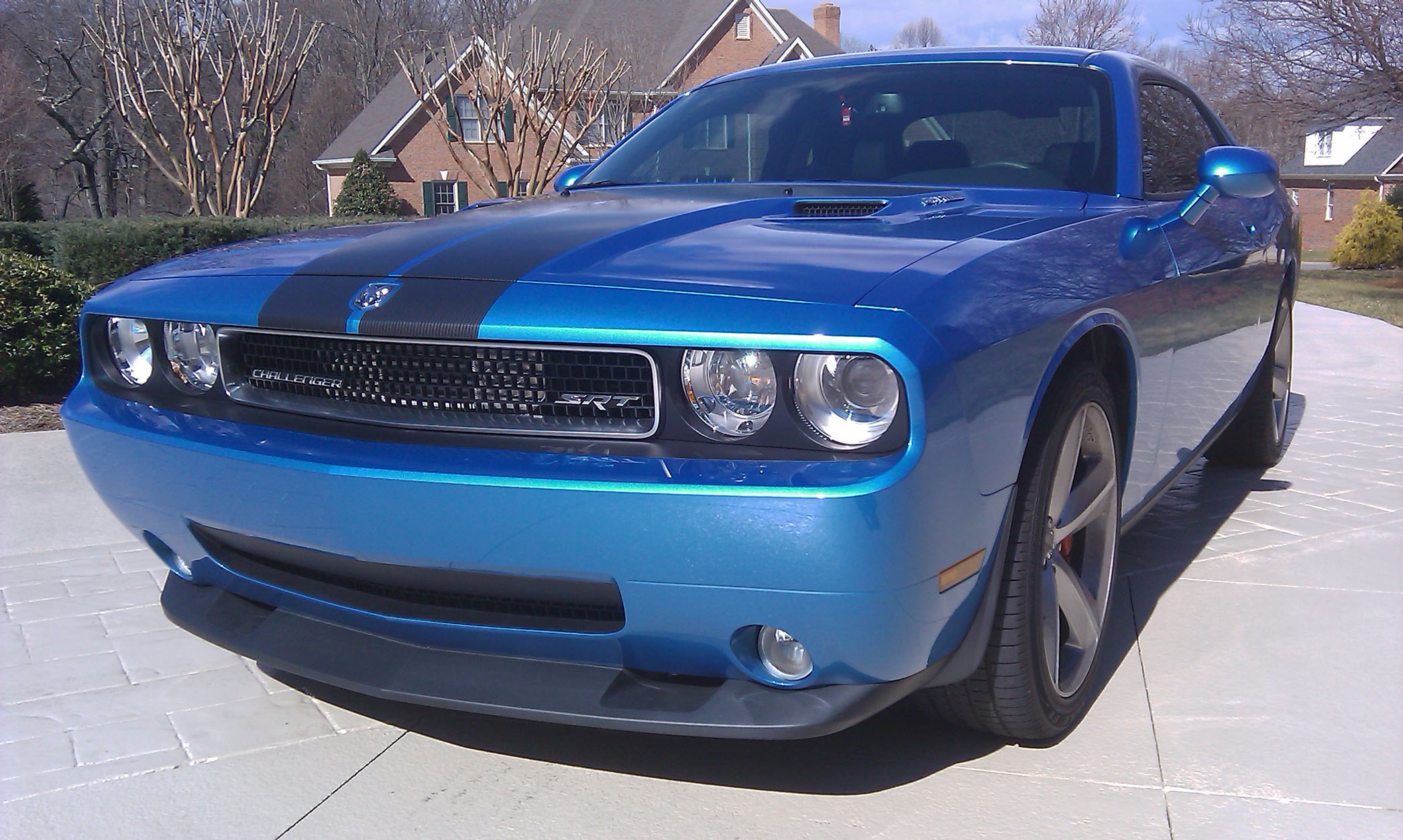 2010 dodge challenger srt8 b5 blue supercharger 1 8 mile. Black Bedroom Furniture Sets. Home Design Ideas