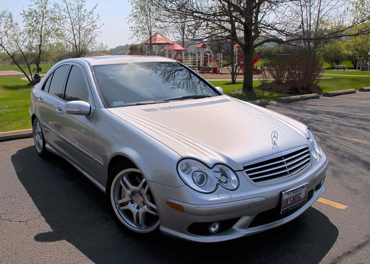 2005 Mercedes-Benz C55 AMG Brilliant Silver Metallic