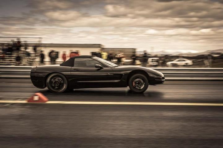 black 2003 Chevrolet Corvette C5 LS2 404ci + 200shot