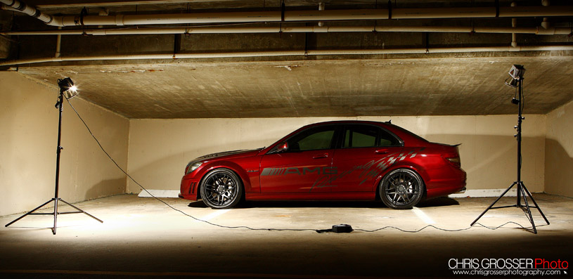 2009 Barolo Red Mercedes-Benz C63 AMG MHP picture, mods, upgrades