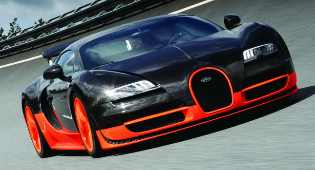 stock 2011 bugatti veyron super sport 1/4 mile drag racing timeslip