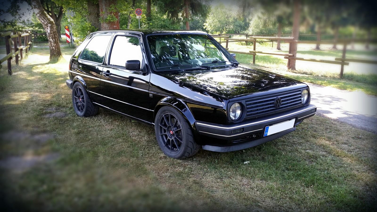 black 1989 Volkswagen Golf 19E