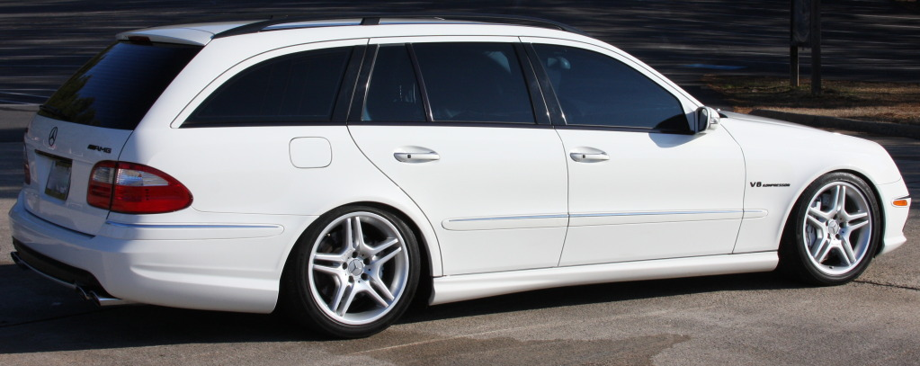 2005 white mercedes benz e55 amg wagon pictures mods for Mercedes benz e55 amg wagon for sale
