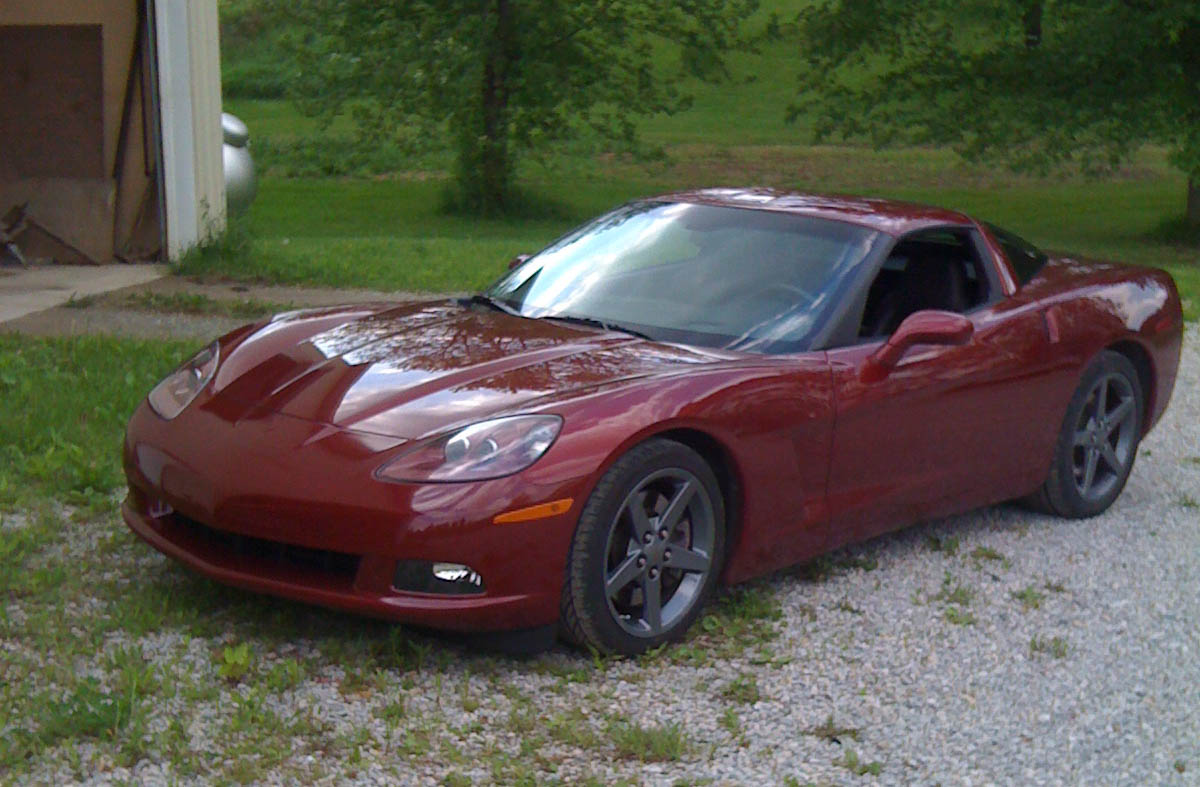 2007 monterey red metallic Chevrolet Corvette Z51 picture, mods, upgrades