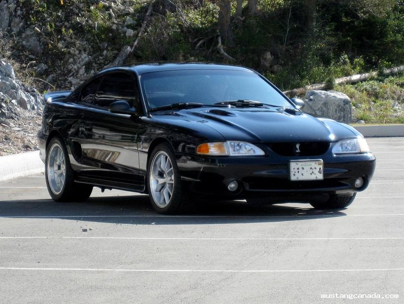 black 1996 Ford Mustang Cobra