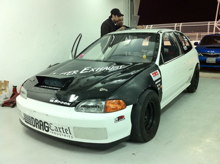 1993 Black and white Honda Civic Street all motor  picture, mods, upgrades