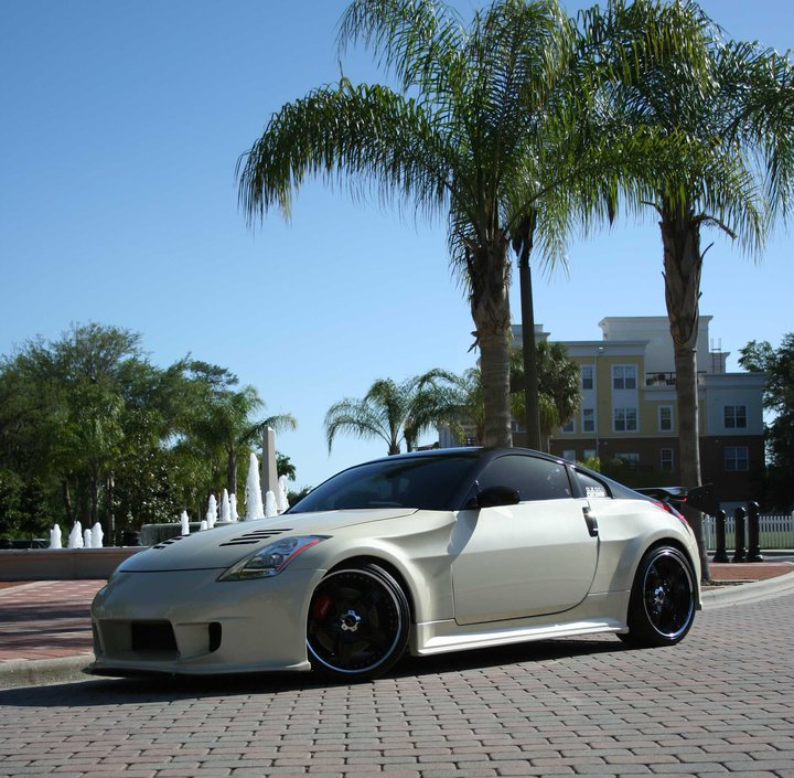 2004 Lambo Pearl White Nissan 350Z Touring picture, mods, upgrades