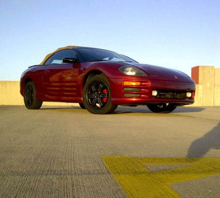 2001 RED Mitsubishi Eclipse Spyder GT picture, mods, upgrades