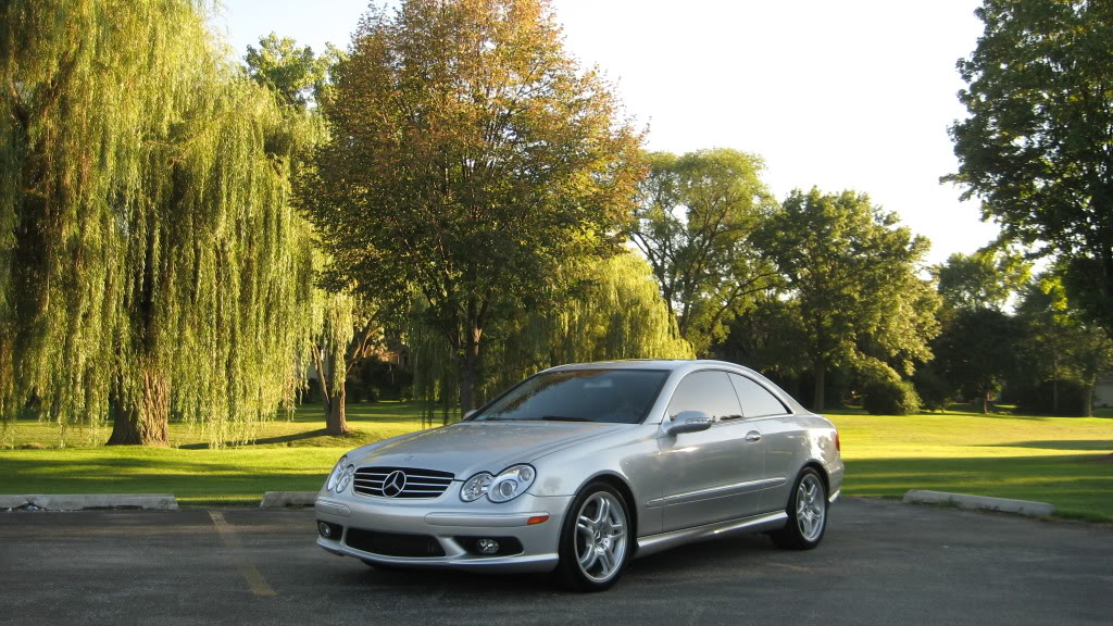 2005 silver mercedes benz clk55 amg coupe pictures mods. Black Bedroom Furniture Sets. Home Design Ideas