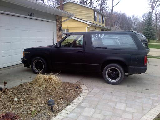 Black 1985 Chevrolet S10 Blazer