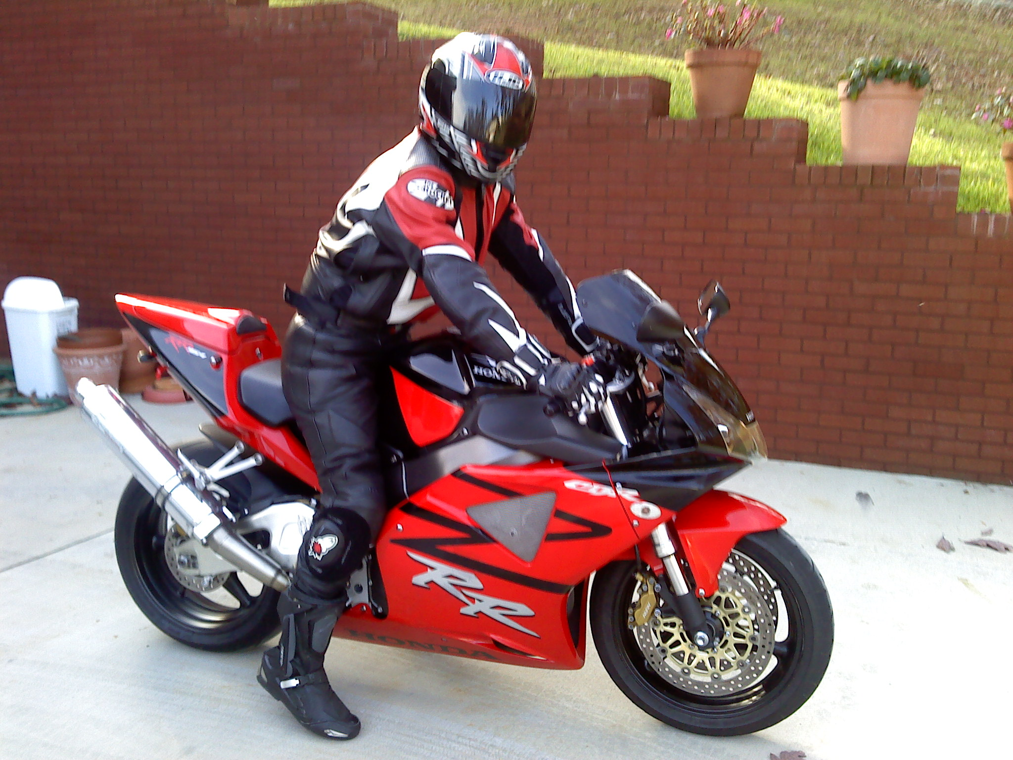Red/Black 2003 Honda CBR CBR 954RR