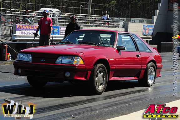 red 1991 Ford Mustang gt nitrous