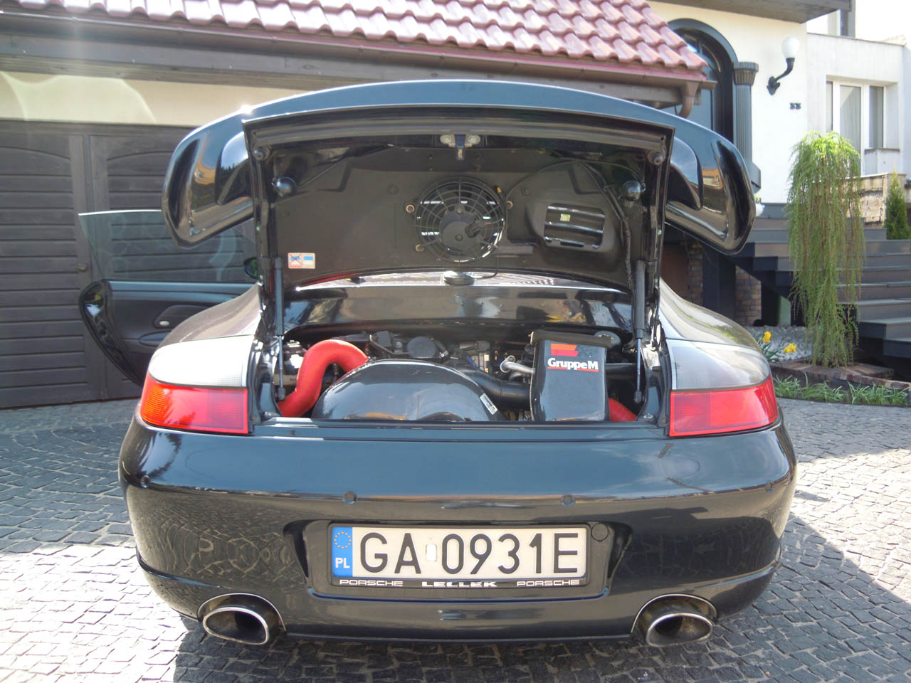 black 2002 Porsche 911 Turbo