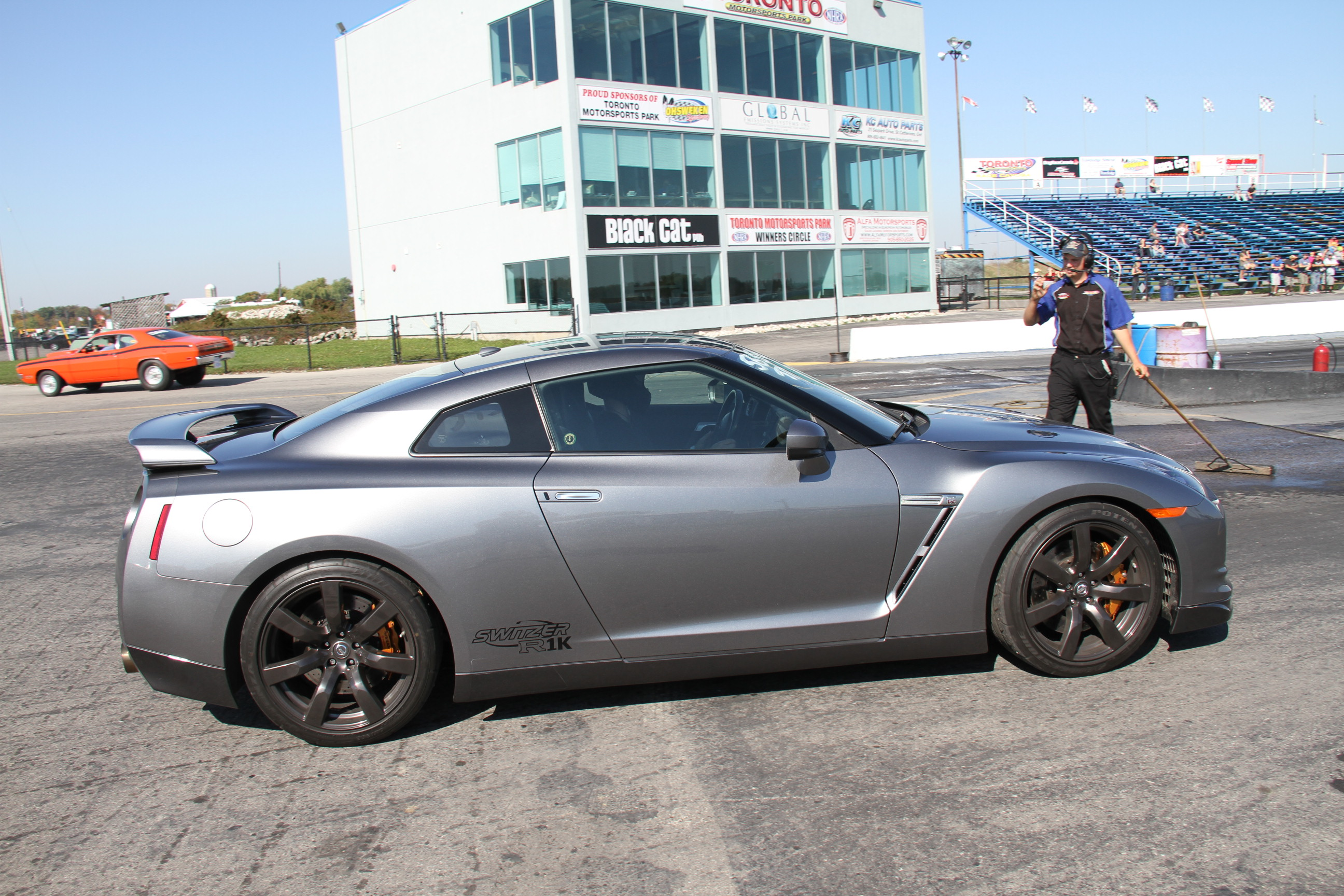 2010 Nissan GT R Switzer R1K Pump Gas 1 4 mile trap speeds 0 60