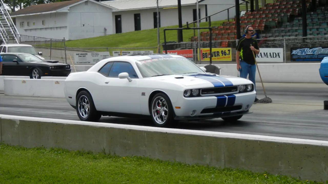 2011 White w/blue stripes Dodge Challenger SRT8 392 Hemi picture, mods, upgrades