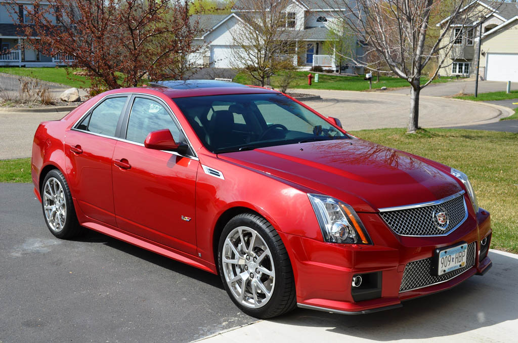 2009 Crystal Red Tintcoat Cadillac CTS-V  picture, mods, upgrades