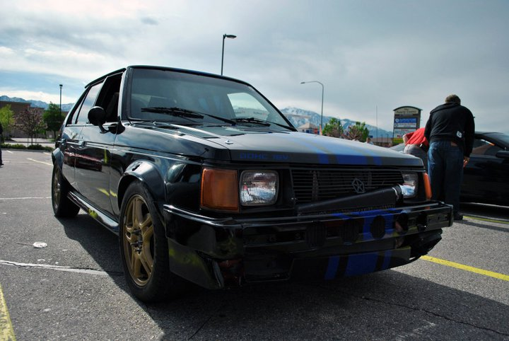 Black 1986 Dodge Omni GLH-T gt4094r Turbo