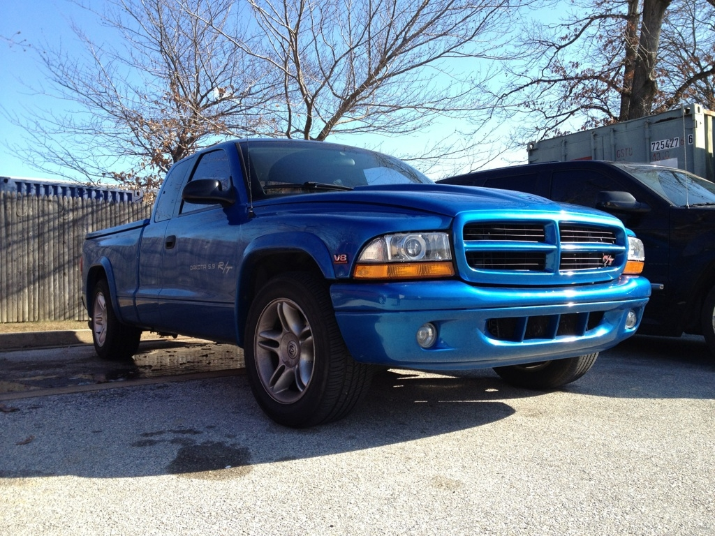 Blue 1998 Dodge Dakota CC R/T