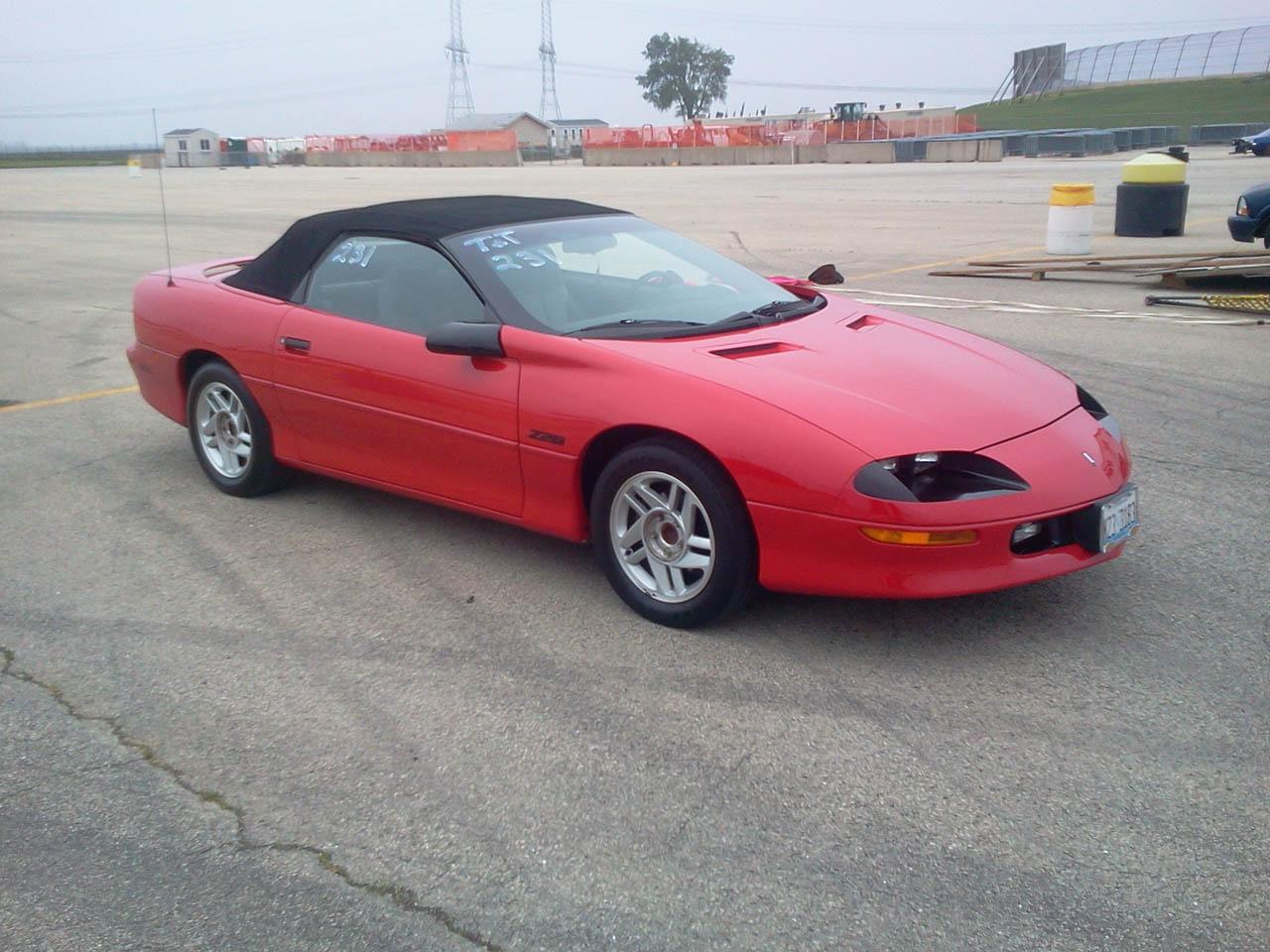 Red 1994 chevrolet camaro z28 convt auto