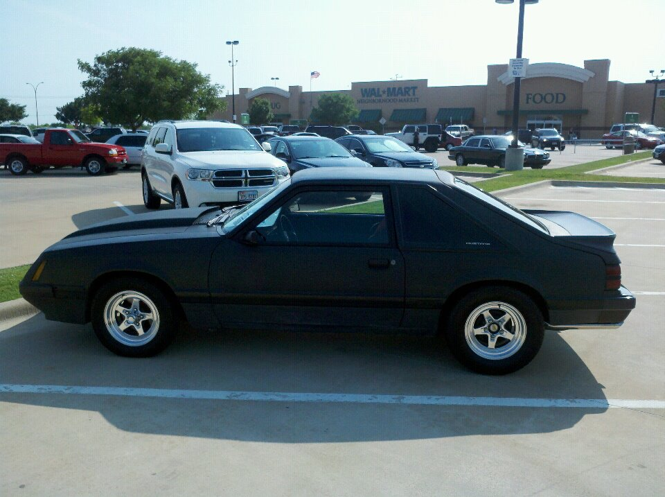 1985 Black Ford Mustang GT picture, mods, upgrades
