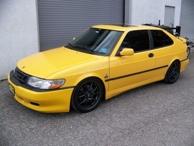 2000 Yellow Saab 9-3 viggen picture, mods, upgrades