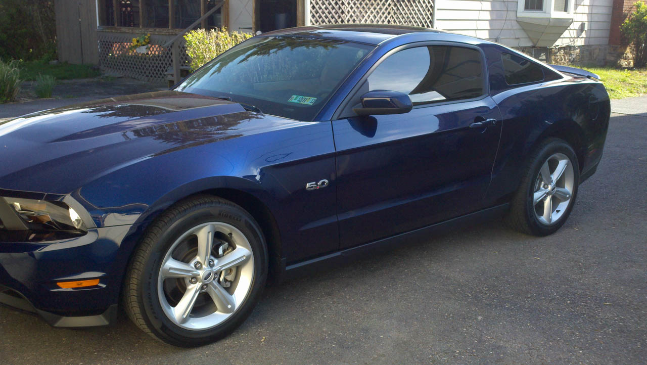 2011 kona blue ford mustang gt picture mods upgrades