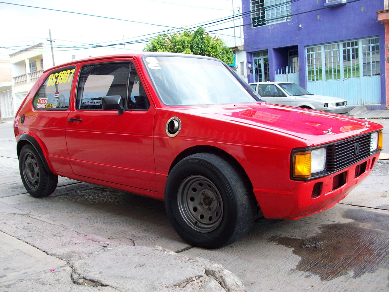1984 Red Volkswagen Rabbit DURON MOTORSPORT picture, mods, upgrades