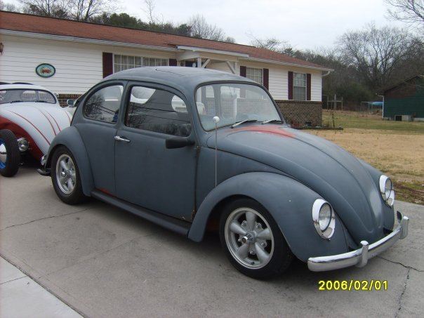 1965 primer grey Volkswagen Beetle  picture, mods, upgrades