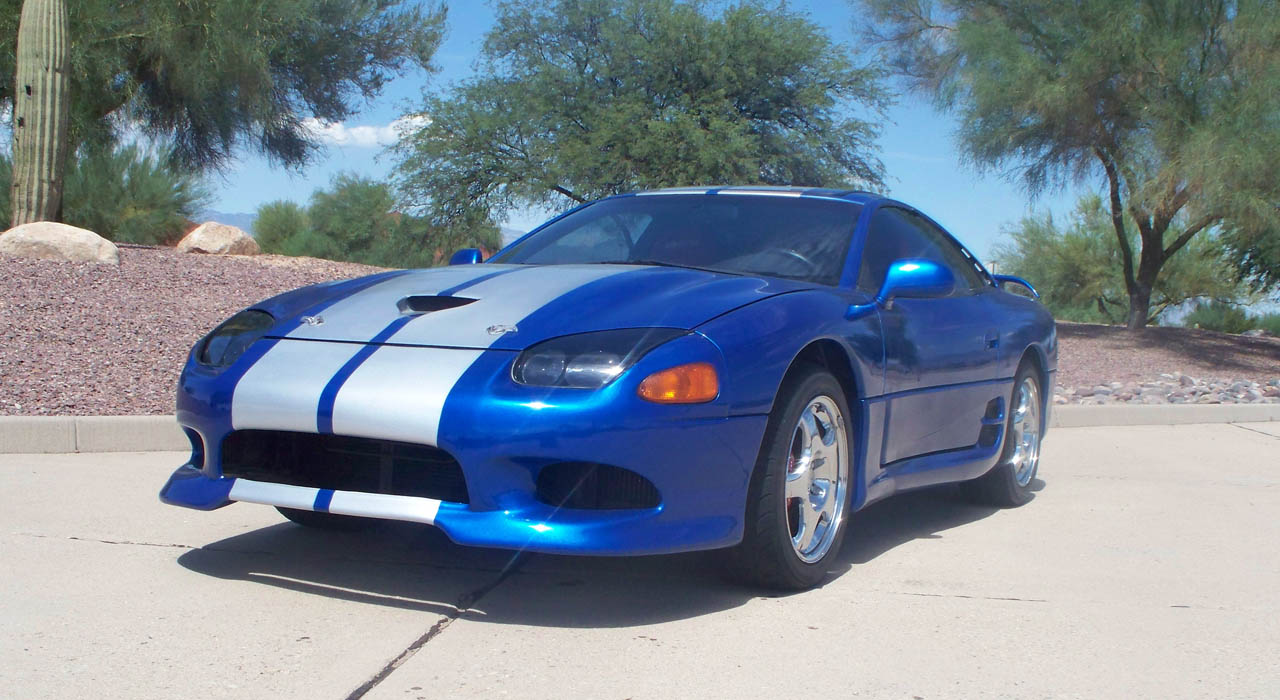 Viper blue silver stripes 1994 dodge stealth rt tt