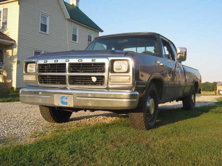 1992 blue Dodge D250 le club cab picture, mods, upgrades
