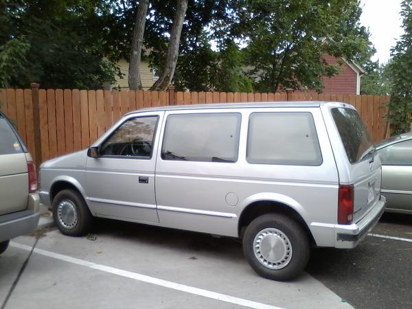 Silver 1989 Plymouth Voyager SE