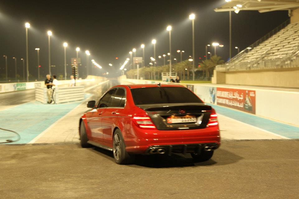 Mars Red 2009 Mercedes-Benz C63 AMG Weistec Supercharger Stage1+